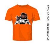 mammoth head vector logo...   Shutterstock .eps vector #647997121