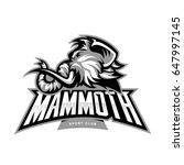 mammoth head vector logo...   Shutterstock .eps vector #647997145