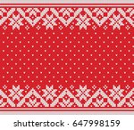 winter holiday seamless knitted ... | Shutterstock .eps vector #647998159