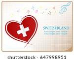 heart logo made from the flag...   Shutterstock .eps vector #647998951
