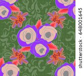 seamless pattern with...   Shutterstock .eps vector #648001645