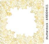 decorative frame of flowers...   Shutterstock .eps vector #648004411