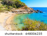 view of secluded cala d'en... | Shutterstock . vector #648006235