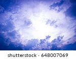 cloudy sky and background  | Shutterstock . vector #648007069