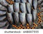 sun dry egg of trichogaster... | Shutterstock . vector #648007555