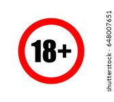 18  age restriction sign.   Shutterstock .eps vector #648007651