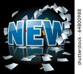 """new"" inscription represented... | Shutterstock .eps vector #64800988"