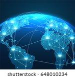 internet concept of global... | Shutterstock .eps vector #648010234