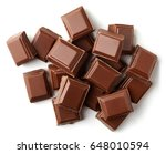 milk chocolate pieces isolated... | Shutterstock . vector #648010594