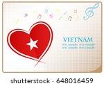 heart logo made from the flag...   Shutterstock .eps vector #648016459