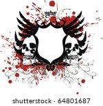 heraldic skull coat of arms in... | Shutterstock .eps vector #64801687