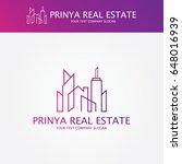 real estate logo   Shutterstock .eps vector #648016939