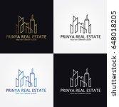 real estate logo   Shutterstock .eps vector #648018205