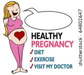 An Image Of A Healthy Pregnant...