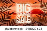 summer big sale design template.... | Shutterstock .eps vector #648027625