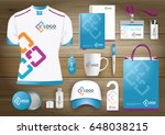 network gift items  color... | Shutterstock .eps vector #648038215