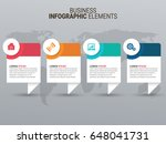 infographic templates in paper... | Shutterstock .eps vector #648041731