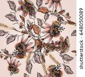 beautiful botanical... | Shutterstock .eps vector #648050089
