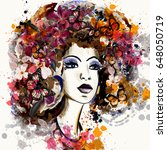 beautiful fashion illustration...   Shutterstock .eps vector #648050719