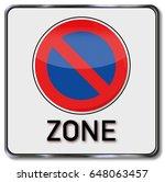 no parking zone | Shutterstock . vector #648063457