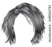 trendy woman disheveled hairs... | Shutterstock .eps vector #648066781
