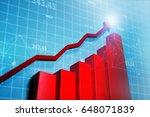 stock market graphs  showing... | Shutterstock . vector #648071839