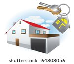house with keys | Shutterstock .eps vector #64808056