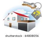 house with keys   Shutterstock .eps vector #64808056