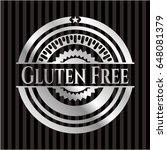 gluten free silvery shiny badge | Shutterstock .eps vector #648081379