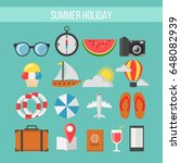 collection of vector flat... | Shutterstock .eps vector #648082939