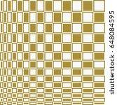 checkered op art vector... | Shutterstock .eps vector #648084595