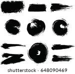 black ink vector brush strokes | Shutterstock .eps vector #648090469