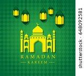 modern islamic ramadan kareem... | Shutterstock .eps vector #648092581