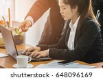 business people using laptop...   Shutterstock . vector #648096169