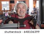 attractive senior man in gym... | Shutterstock . vector #648106399
