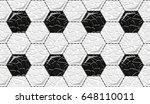 soccer ball  black and white ... | Shutterstock .eps vector #648110011
