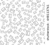 seamless pattern with mail... | Shutterstock .eps vector #648113761