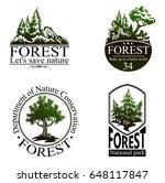 green tree logo  vector... | Shutterstock .eps vector #648117847