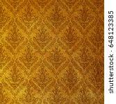golden wallpaper. baroque style. | Shutterstock . vector #648123385