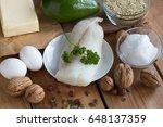 healthy fats   wild caught fish ...   Shutterstock . vector #648137359