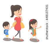 it is a family vacation with... | Shutterstock .eps vector #648137431