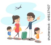 family trip with background | Shutterstock .eps vector #648137437