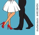 a couple from waist down  | Shutterstock .eps vector #648138454