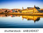 puerto natales  chile   gulf... | Shutterstock . vector #648140437