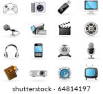 multimedia icon set | Shutterstock .eps vector #64814197