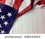 american flag on a white surface | Shutterstock . vector #648143965