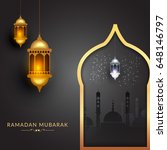 illustration of ramadan kareem... | Shutterstock .eps vector #648146797