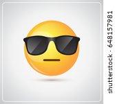 yellow smiling cartoon face... | Shutterstock .eps vector #648157981