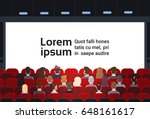 people sit cinema hall back... | Shutterstock .eps vector #648161617