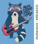 cool raccoon guitarist is... | Shutterstock .eps vector #648166231